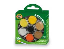 """Anilínové vodové farby, 24-kusové, 22,5 mm, KOH-I-NOOR """"Brillant"""""""