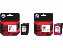 C2P10AE náplň k tlačiarňam Deskjet Ink Advantage 5575, HP 651 čierna, 600 strán