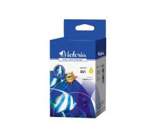 551 Náplň k tlačiarnam  Pixma iP7250, MG5450, MG6350, VICTORIA žltá, 11ml