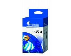 45Ax2 Náplň multipack k tlačiarňam DeskJet 710c, 720c, VICTORIA čierna, 2*42ml