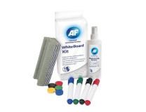 "Čiasitaca tekutina, k tabuliam + hubka, utierka, magnet, popisovač,  125 ml, AF ""Whiteboard cleaning kit"""