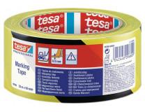 """Označovacia páska, 50 mm x 33 m, TESA """"Professional"""", čierna/žltá"""