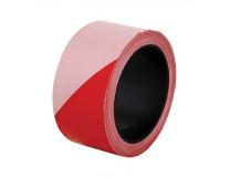 Označovacia páska, 100 m, šírka 5 cm, červeno-biela