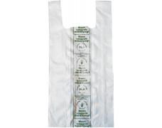 """Igelitové tašky, prírodné, rozložiteľné, 19x45x0,12 cm HU popis: """"Nem vagyok műanyag"""""""