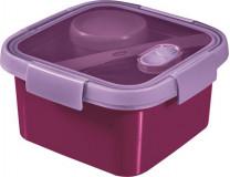 """Box na obed, s príborom, 1l, CURVER, """"Smart to go"""", fialová"""