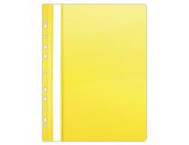 Rýchloviazač, s eurodierovaním, PVC, A4, DONAU, žltý