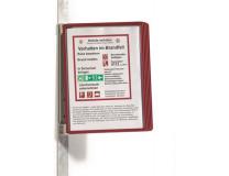 """Držiak, nástenný, magnetický, s 5 panelmi, DURABLE """"VARIO® 5 MAGNET"""", červená"""