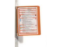 "Držiak, nástenný, magnetický, s 5 panelmi, DURABLE ""VARIO® 5 MAGNET"", oranžová"