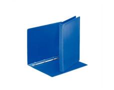 Krúžkový šanón, panoramatický, 4 krúžky, 25 mm, A4, PP/PP, ESSELTE, modrý