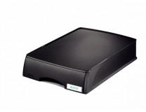 """Box na dokumenty, plastový, 1 zásuvkový, LEITZ """"Plus"""", čierny"""
