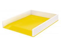"""Odkladač plastový, dvojfarebný, LEITZ """"Wow"""", žltá"""
