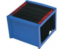 Box na závesné zakladacie dosky, plastový, HELIT, modrý
