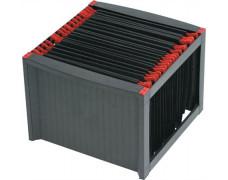 Box na závesné zakladacie dosky, plastový, HELIT, čierny - červený