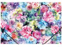 "Doska s gumičkou, 15 mm, PP, A4,  PANTA PLAST ""Roses"""