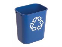 Odpadkový kôš na triedenie odpadkov, plastový, 27 l, RUBBERMAID, modrá