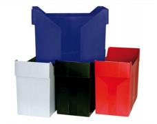 Box na závesné zakladacie dosky, plastový, DONAU, červený