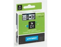"""Páska do štítkovača, 12 mm x 7 m, DYMO """"D1"""", číra-čierna"""