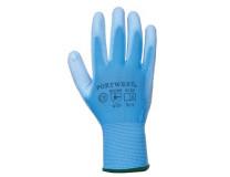 Montážne rukavice, na dlani namočené do polyuretánu, veľkosť: 7, modré