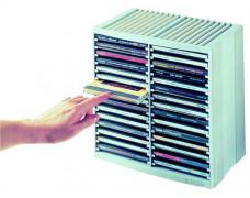 Box na CD (30+18), sivá