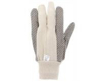 Záhradné rukavice s čiernymi protišmikovými bodkami, veľkosť:10