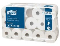 Toaletný papier, T4 systém, 3-vrstvový, priemer: 12,5 cm, Advanced, TORK, biela