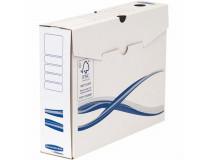 "Archivačná krabica, A4+, 80 mm, FELLOWES ""Bankers Box Basic"", modrá/biela"