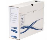 "Archivačná krabica, A4+, 100 mm, FELLOWES ""Bankers Box Basic"", modrá/biela"