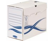 "Archivačná krabica, A4, 150 mm, FELLOWES ""Bankers Box Basic"", modrá/biela"