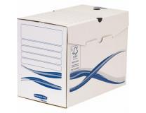 "Archivačná krabica, A4, 200 mm, FELLOWES ""Bankers Box Basic"", modrá/biela"