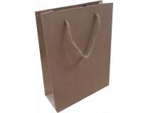 Darčeková taška, 20x15x6 cm, prírodná