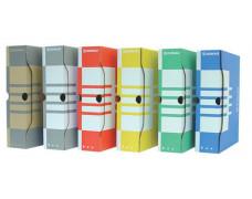 Archívny box, A4, 80 mm, kartónový, DONAU, modrý