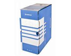 Archívny box, A4, 155 mm, kartón, DONAU, modrý