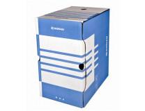 Archívny box, A4, 200 mm, kartón, DONAU, modrý