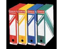 """Archívny box, A4, 80 mm, kartón, ESSELTE """"Standard"""", modrý"""