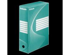 """Archívny box, A4, 100 mm, kartón, ESSELTE """"Standard"""", zelený"""