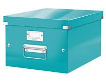 """Archivačná krabica, A4, lakový lesk, LEITZ """"Click&Store"""", ľadovo modrá"""