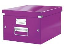"""Archivačná krabica, A4, lakový lesk, LEITZ """"Click&Store"""", fialová"""