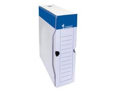 Archívny box, A4, 80  mm, kartón, VICTORIA, biely