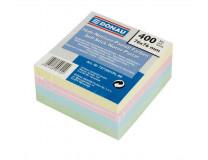Samolepiaci bloček, 76x76mm, 4x100 listov, DONAU, farebný