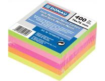 Samolepiaci bloček, 76x76 mm, 5x80 listov, DONAU, neónové farby