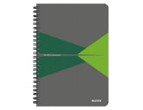 "Blok, A5, linajkový, 90 listov, laminovaná kartónová obálka, LEITZ ""Office"", sivá-zelená"