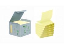 "Samolepiaci bloček, ""Z"", 76x76 mm, 6x100 listov, ekologický, 3M POSTIT, žltý"