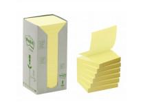 "Samolepiaci bloček, ""Z"", 76x76 mm, 16x100 listov, ekologický, 3M POSTIT, žltý"