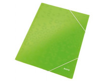 "Doska s gumičkou, 15 mm, kartón, A4, lakový lesk, LEITZ ""Wow"", zelená"