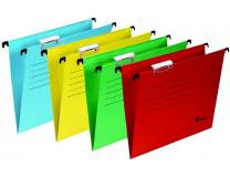 Archivačné závesné dosky, kartónové, A4, VICTORIA, červené