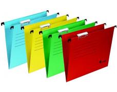 Archivačné závesné dosky, kartónové, A4, VICTORIA, žlté