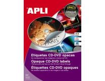 Etikety, na CD/DVD, A4, krycie etikety, APLI