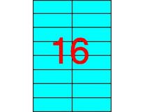 Etikety, 105x37 mm, farebné, APLI, modré, 320 etikiet/bal