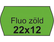 Cenové etikety, 22x12, FLUO zelená