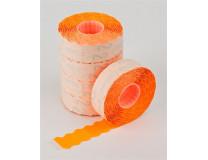 Cenové etikety, 22x12 mm, METO, oranžová